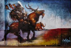 Looking For A Artist A Warrior In An Evil Looking Helmet Rides A Horned Beast In