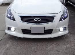 nissan infiniti oem fit 18w led fog lights with angel eye halo rings