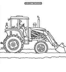 tractor plowing snow coloring download u0026 print