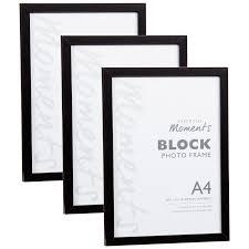 Home Decor Photo Frames Block A4 Photo Frame Black Home Decor Photoframes