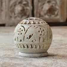 carving soapstone carved soapstone jali candle holder elephant design