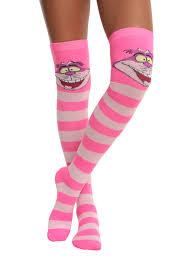 halloween knee socks disney alice in wonderland cheshire cat over the knee socks