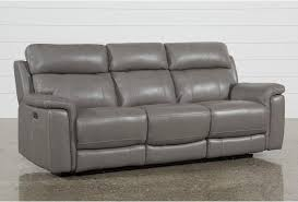 Reclining Sofas Leather Dino Leather Power Reclining Sofa W Power Headrest Living Spaces