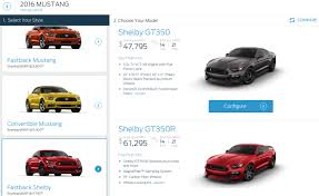 price for ford mustang 2016 ford mustang shelby gt350 pricing starts just 50 000