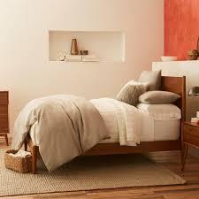 mid century bed acorn west elm uk
