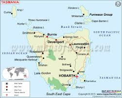 map of australia with cities and states map of tasmania tasmania state map australia