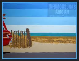 beach jeep surf jeep infamous jims auto art sketches designs fine art
