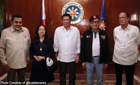 first five presidents first five fvr declares duterte ex presidents as the philippine