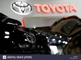toyota vehicles toyota vehicles on display stock photo royalty free image