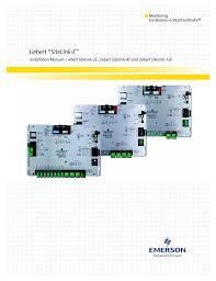 emerson sitelink 12e user manual 24 pages also for sitelink 4e