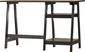 latitude run estes writing desk with sawhorse legs u0026 reviews wayfair