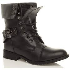 womens boots low heel womens army low heel combat worker lace up a