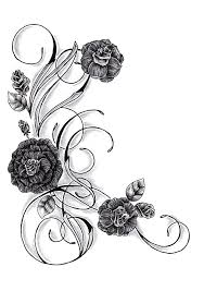 rose swirl tattoo designs best 25 rose vine tattoos ideas on