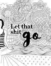 funny swearing coloring book page unique by yogabender k
