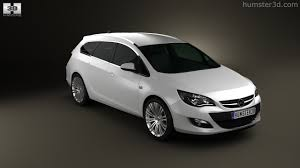 opel silver 360 view of opel astra j sports tourer 2012 3d model hum3d store