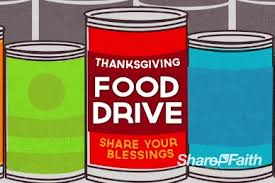 thanksgiving canned food drive flyer