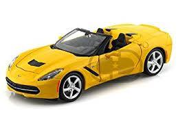 2014 corvette stingray convertible amazon com maisto 2014 chevy corvette stingray convertible 1 24