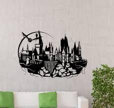 hogwarts wall decal harry potter magic kingdom silhouette