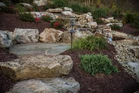 Boulder Landscaping Ideas Landscaping With Stone Garden Designs Using Gravel Rock