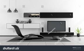 black white living room chaise lounge stock illustration 672048205