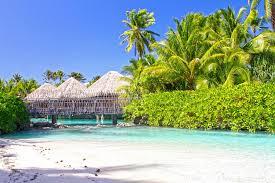 beach spa sand bungalow paradise lagoon tahiti intercontinental