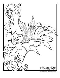 flower fairy coloring page 3 woo jr kids activities