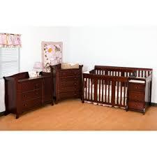Convertible Crib And Changer Portofino 4 In 1 Fixed Side Convertible Crib Changer By Stork
