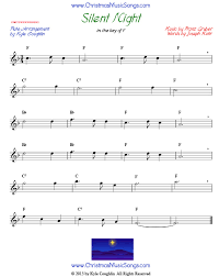 silent night for flute free sheet music