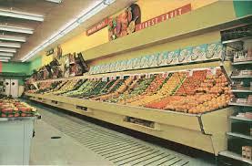pleasant family shopping winn dixie produce aisle early 60 u0027s