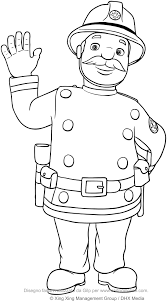 captain basil steele fireman sam coloring pages