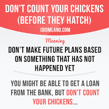 Count Your Chickens Before They Hatch Meaning Don T Count Your Chickens Before They Hatch Quotes