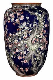 Enamel Vase Japanese Cloisonné Enamel Vase Lot Art