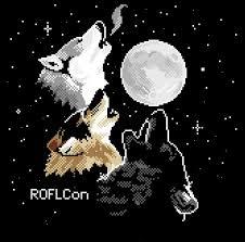 roflcon ii t shirt pixel three wolf moon