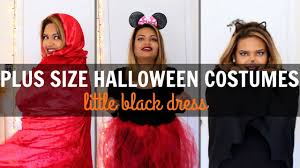 2016 plus size halloween costumes little black dress youtube