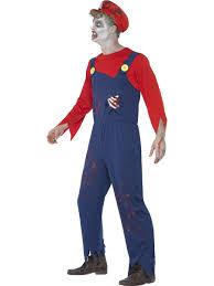 halloween zombie costume zombie mario plumber costume 40057 fancy dress ball