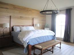 accent wall for small bedroom blue brown line pattern king size
