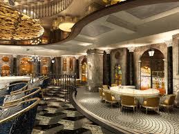 high end restaurant with modern interior decor 3d model max