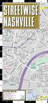 Tennessee City Map by Streetwise Nashville Map Laminated City Center Street Map Of