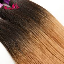 Two Tone Ombre Hair Extensions by Soft Peruvian Straight Virgin Hair Two Tone Peruvian Straight Hair