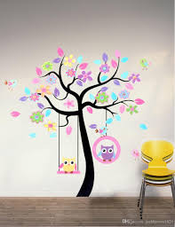owls tree kids wall sticker mural living room stickers wall paper