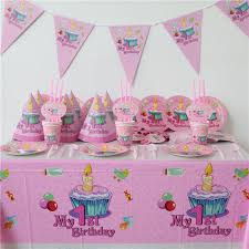 baby girl 1st birthday themes 86pcs luxury kids birthday decoration set my 1st birthday theme