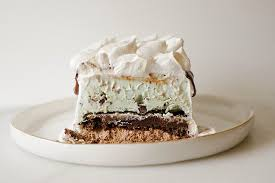 mint brownie ice cream cake wood u0026 spoon