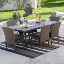 Rectangular Patio Tables Rectangle Patio Dining Sets On Hayneedle Rectangle Outdoor