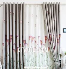 Asian Curtains Floral Chic Asian Inexpensive Thermal Curtains For Bedroom