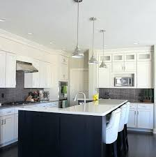 White Island Kitchen White Kitchen Island White Cabinets With Island In