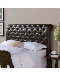 Tufted Upholstered Headboard Savings On And Gardens Rolled Tufted Upholstered Headboard Brown