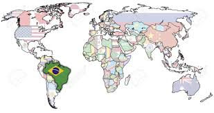 Blank Brazil Flag Maps World Map Brazil Inside On Roundtripticket Me