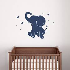 Boy Nursery Wall Decal Elephant Wall Decals Nursery Elephant Wall Decals Nursery