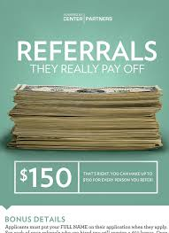 employee referral cover letter sample center partners u2014 employee referral program poster close up