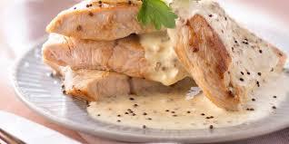 cuisiner escalopes de dinde escalopes de dinde à la moutarde et au chèvre facile recette sur